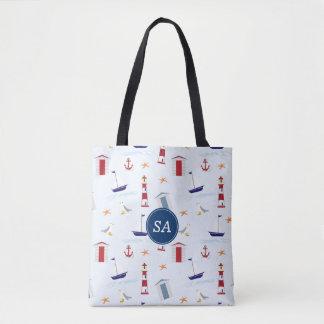 Nautical Back to School Dorm Essentials Tote Bag