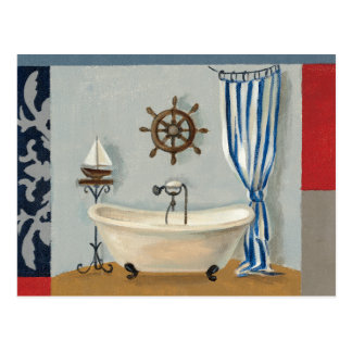 Nautical Bathroom Postcard