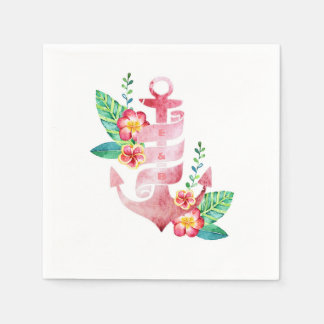 Nautical Beach Anchor Wedding Disposable Napkin