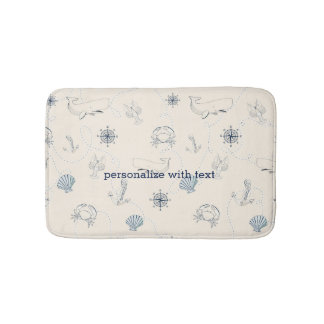 Nautical Beach Bath Mat