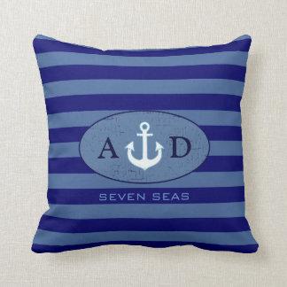 nautical beach house decor personalized cushion