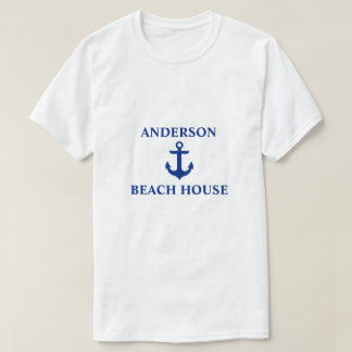 Nautical Beach House Family Name Anchor T-Shirt