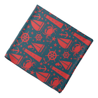 Nautical Beach pattern fun bandana