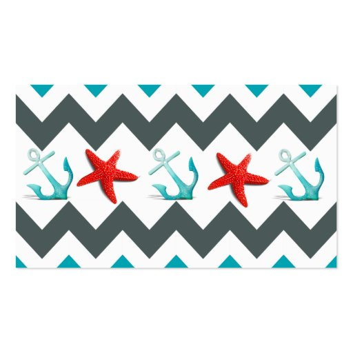 Nautical star business cards images card design and card template collections of star fish business cards page3 nautical beach theme chevron anchors starfish business cards reheart reheart Gallery