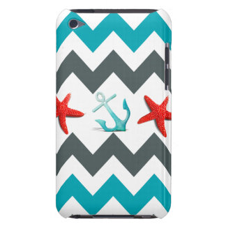 Nautical Beach Theme Chevron Anchors Starfish iPod Touch Covers