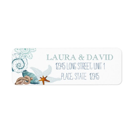Nautical Beach Wedding | Return Address Labels
