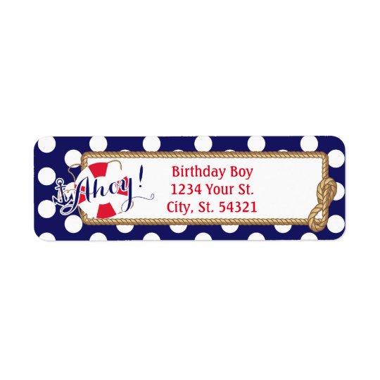 Nautical Birthday Address Labels