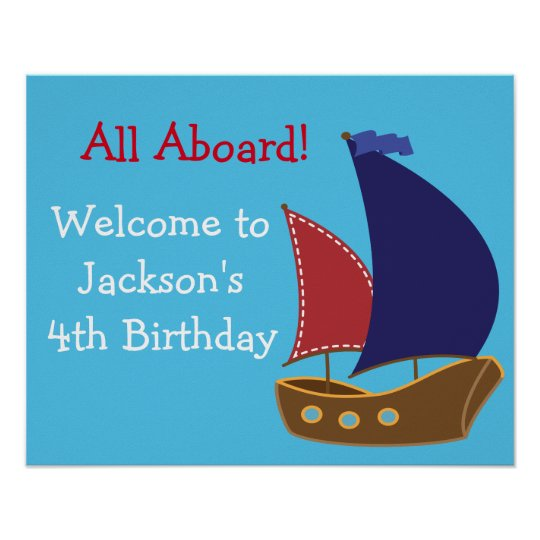 Nautical Birthday Sign- Personalised Poster