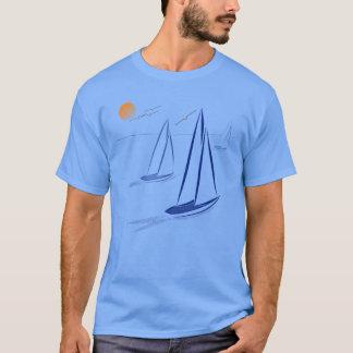 Nautical Bits Coastal Sailing Yachts Apparel T-Shirt