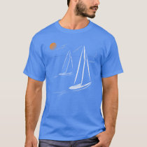 Nautical Bits Coastal Sailing Yachts Dark Tees