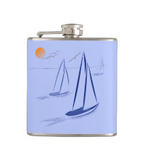 Nautical Bits Coastal Sailing Yachts Hip Flask