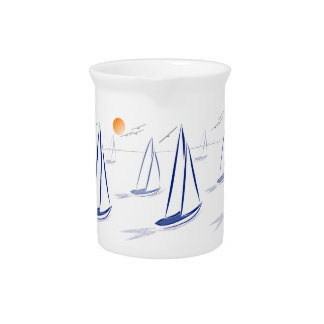 Nautical Bits Coastal Sailing Yachts Pitcher
