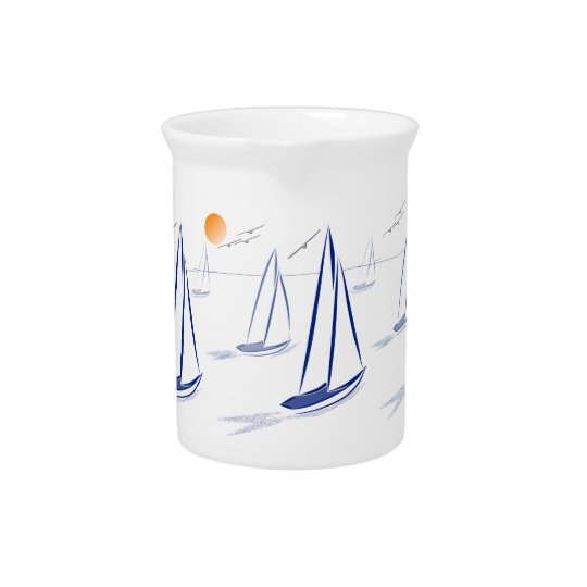 Nautical Bits Coastal Sailing Yachts Pitcher