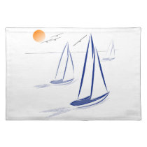Nautical Bits Coastal Sailing Yachts Placemat