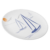 Nautical Bits Coastal Sailing Yachts Plate