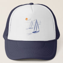 Nautical Bits Coastal Sailing Yachts Trucker Hat