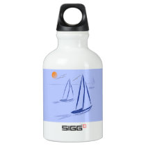 Nautical Bits Coastal Sailing Yachts Water Bottle