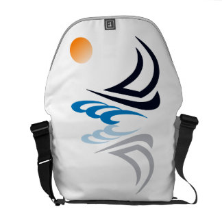 Nautical Bits Sailing Yacht with Reflection Courier Bags