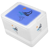 Nautical Bits Sailing Yacht with Reflection Igloo Cool Box