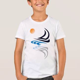 Nautical Bits Sailing Yacht with Reflection Kids T-Shirt