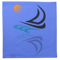 Nautical Bits Sailing Yacht with Reflection Napkin