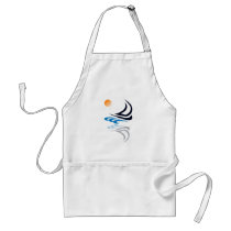 Nautical Bits Sailing Yacht with Reflection Standard Apron