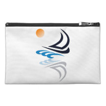 Nautical Bits Sailing Yacht with Reflection Travel Accessory Bag