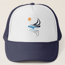 Nautical Bits Sailing Yacht with Reflection Trucker Hat