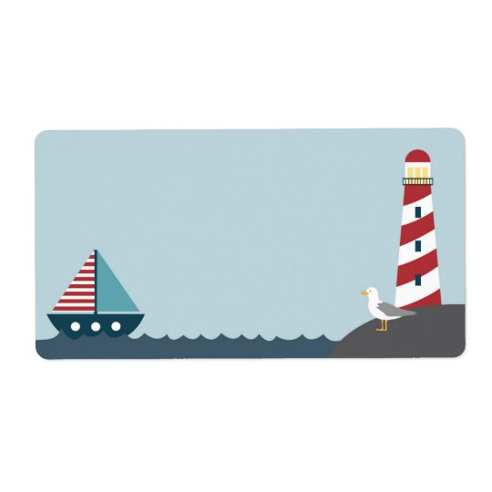 Nautical blank label shipping label
