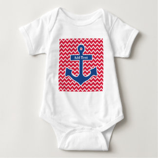 Nautical Blue Anchor Romper Baby Bodysuit