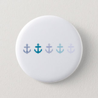 Nautical Blue Anchors Design 6 Cm Round Badge