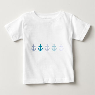 Nautical Blue Anchors Design Baby T-Shirt