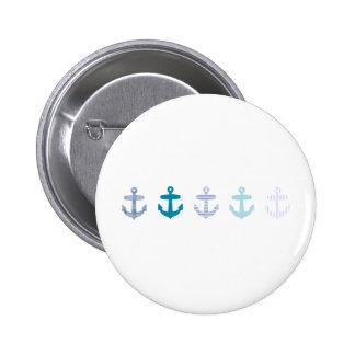 Nautical Blue Anchors Design 6 Cm Round Badge