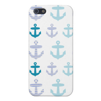 Nautical Blue Anchors Design Case For iPhone 5/5S