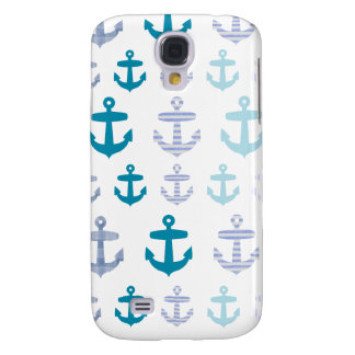 Nautical Blue Anchors Design Galaxy S4 Case