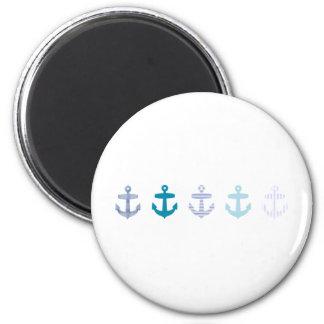Nautical Blue Anchors Design Magnet