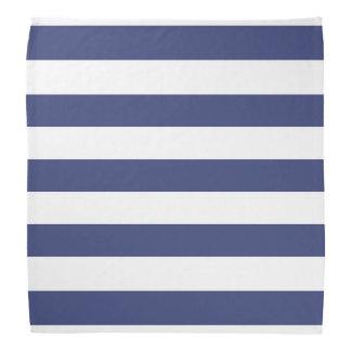 Nautical Blue and White Striped Pattern Bandana
