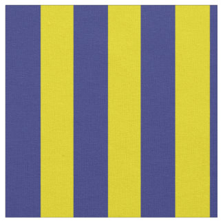 Nautical Blue and Yellow Stripes Fabric