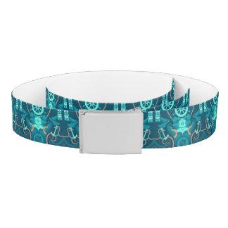 Nautical Blue Design Belt