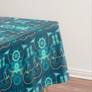 Nautical Blue Design Tablecloth