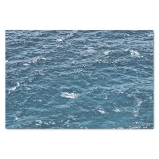 Nautical Blue Ocean Water Tissue Paper