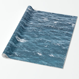 Nautical Blue Ocean Water Wrapping Paper