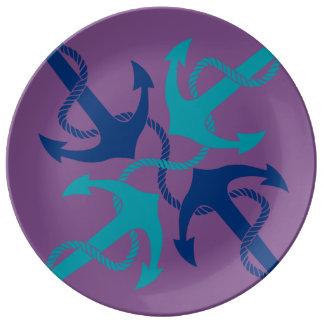 Nautical blue plate