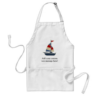 Nautical Blue Sailboat Adult Apron