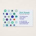 Nautical Blue Sailor Pattern Business Card