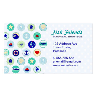 Nautical Blue Sailor Pattern Business Card Templates