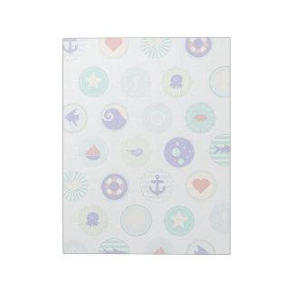 Nautical Blue Sailor Pattern Notepad