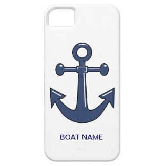 Nautical Blue Ship Anchor Custom Boat Name iPhone 5 Cover