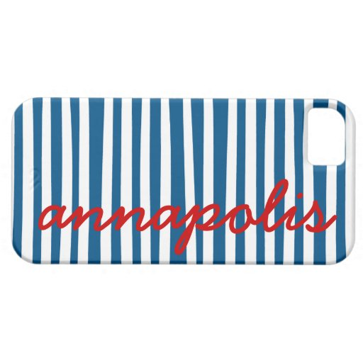 Nautical Blue Stripes - Annapolis iPhone 5 Covers