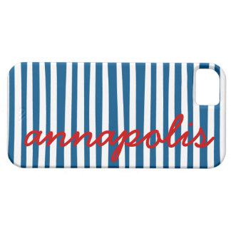 Nautical Blue Stripes - Annapolis iPhone 5 Cover